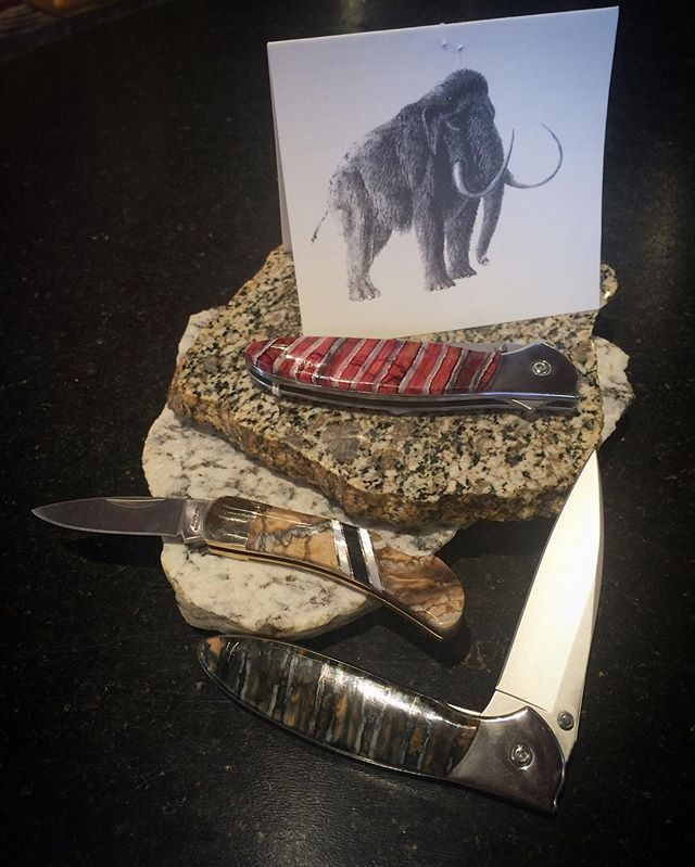 stowecraftgallery These knife handles are all made from