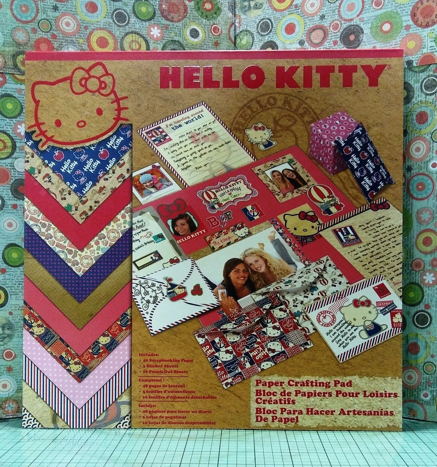 Cardstock 122662 Scrapbook Paper Pad 12x12 Discontinued Hello Kitty