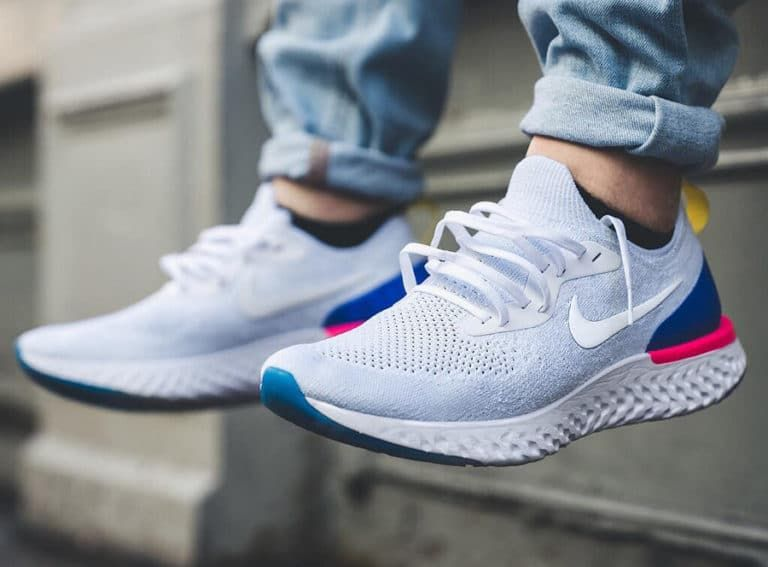 newest b1080 5410c Nike Epic React Flyknit blanche White Racer Blue Pink Blast - AQ0067-101 (2)