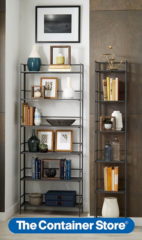Elevate Your Small E Storage Options With Our Iron Folding Bookcase And Tower
