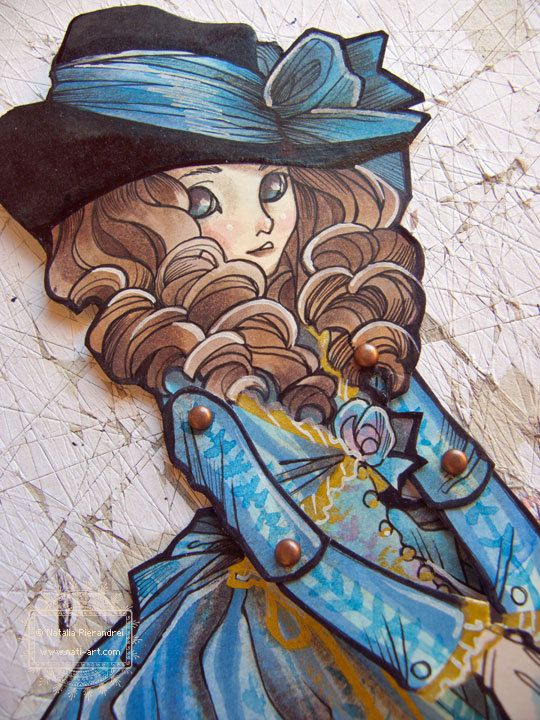 Lady Georgiana - OOAK - Hand Painted - Jointed Articulated Paper Dolls - Folk Art - Paper Goods