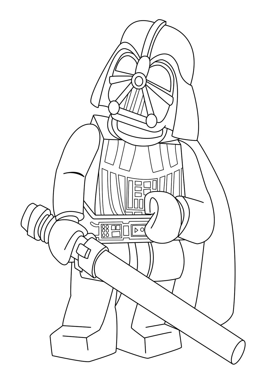 Lego Star Wars Coloring Pages Make Some That Is Darth Vader In Construction Clothes