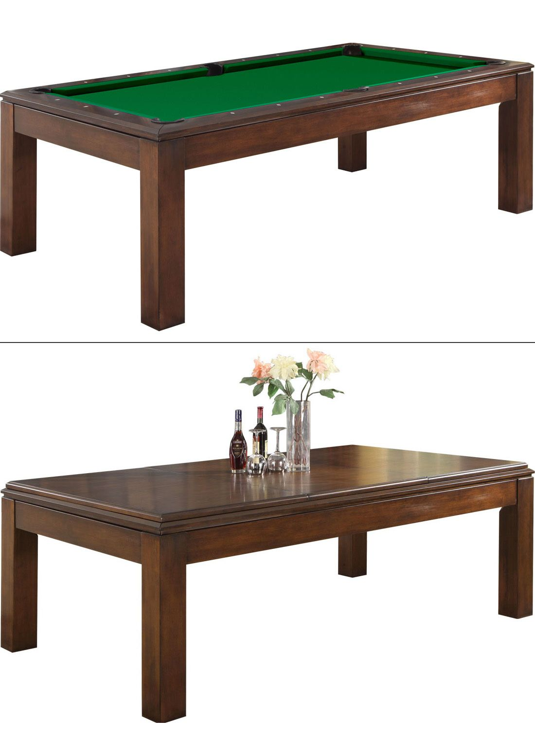 Dining Room Table Turns Into A Full Size Pool Table Great Way To