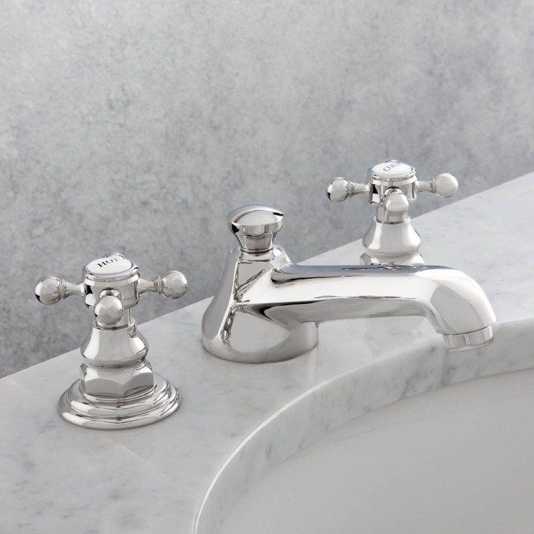 Astor Two Handle Widespread Bathroom Faucet With Drain Widespread Bathroom Faucet Vintage Bathroom Sink Faucet Brass Bathroom Faucets