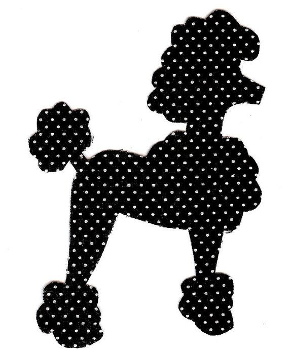 Poodle pattern. Use the printable outline for crafts, creating