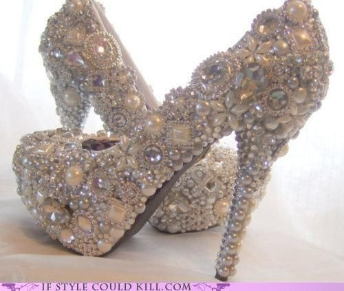 I think I like these more as a statement decoration for my house than to wear! Talk about heartbreak if they got dirty!