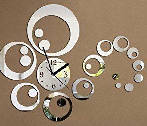 Amazon.de: OrrOrr Moderne Wanduhr Design Wandtattoo Dekoration Uhren NEU  Spiegel Geschenk #82