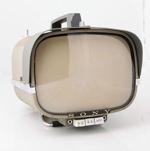 wasbella102: Vintage Sony 8-301W Portable Transistor TV Apple TV prototype.