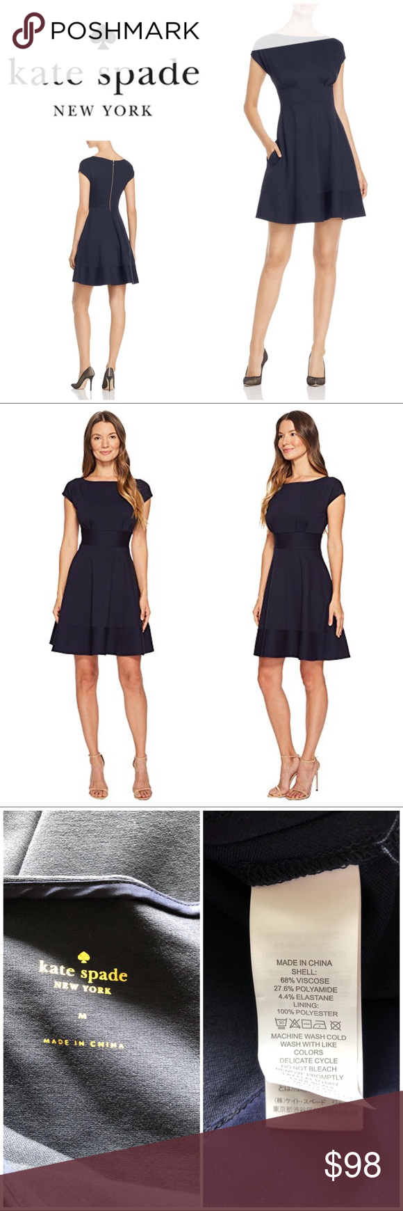 16284b2dfbe9 NWOT Kate Spade fiorella ponte short-sleeve dress New without tags, Kate  Spade fiorella