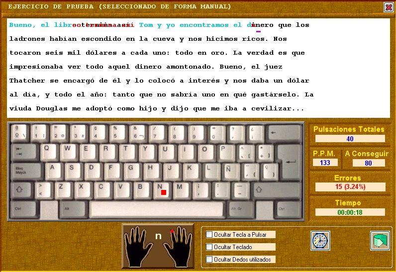 Programa Util Para Aprender A Escribir Sin Ver El Teclado Computer Computer Keyboard Keyboard