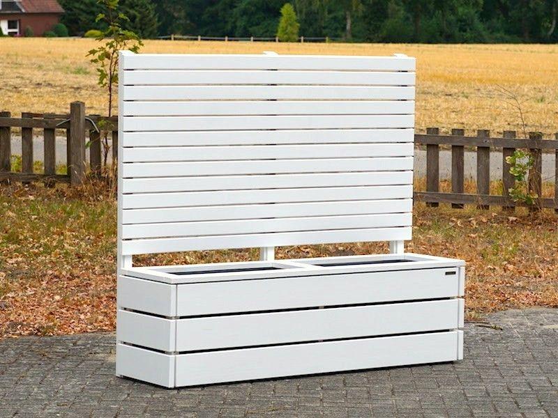 Pflanzkasten Holz Lang M mit Sichtschutz | Sichtschutz Lang ...