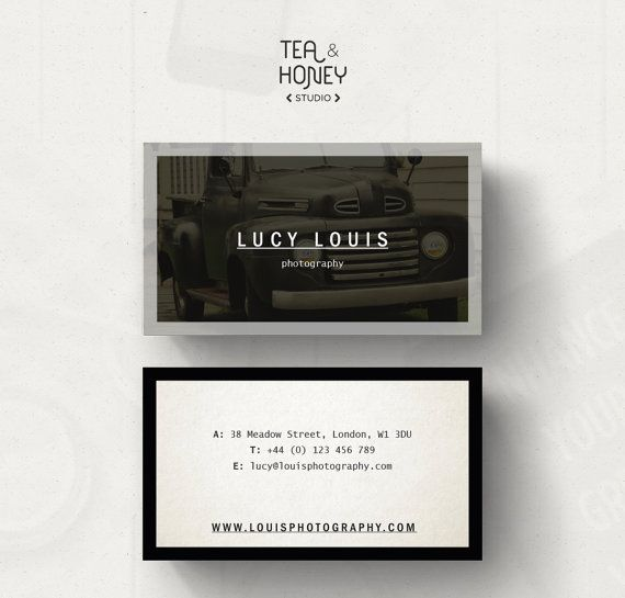 Predesigned business card template by teaandhoneystudio on etsy predesigned business card template photography business card photographer design small business calling card photo image background fbccfo Images