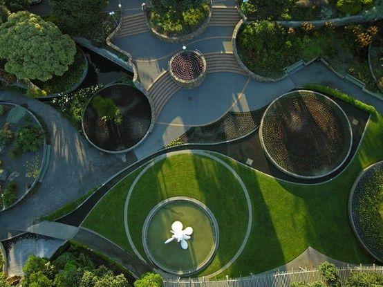 Circle landscape plan pesquisa google paisagismo for Circular lawn garden designs