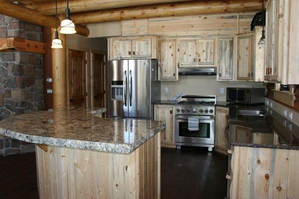 Blue pine cabinets - pretty wood | Kitchen refinishing ...