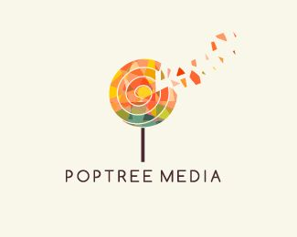 Poptree Media Logo design - Suitable for many industries such as media, entertainment, creative or design, kids, foundation and many more. Price $300.00