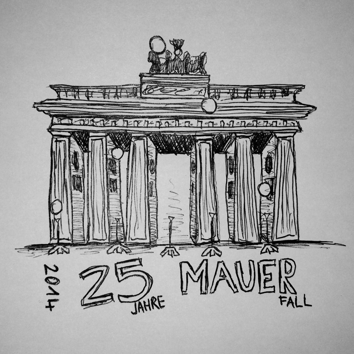 Brandenburg Tor Berlin 25 Jahre Mauerfall 2014 Fall Of The Wall