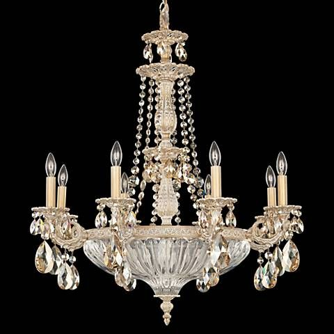 Schonbek milano 27 wide parchment gold crystal chandelier t6776 schonbek milano 27 wide parchment gold crystal chandelier t6776 lamps plus aloadofball Image collections