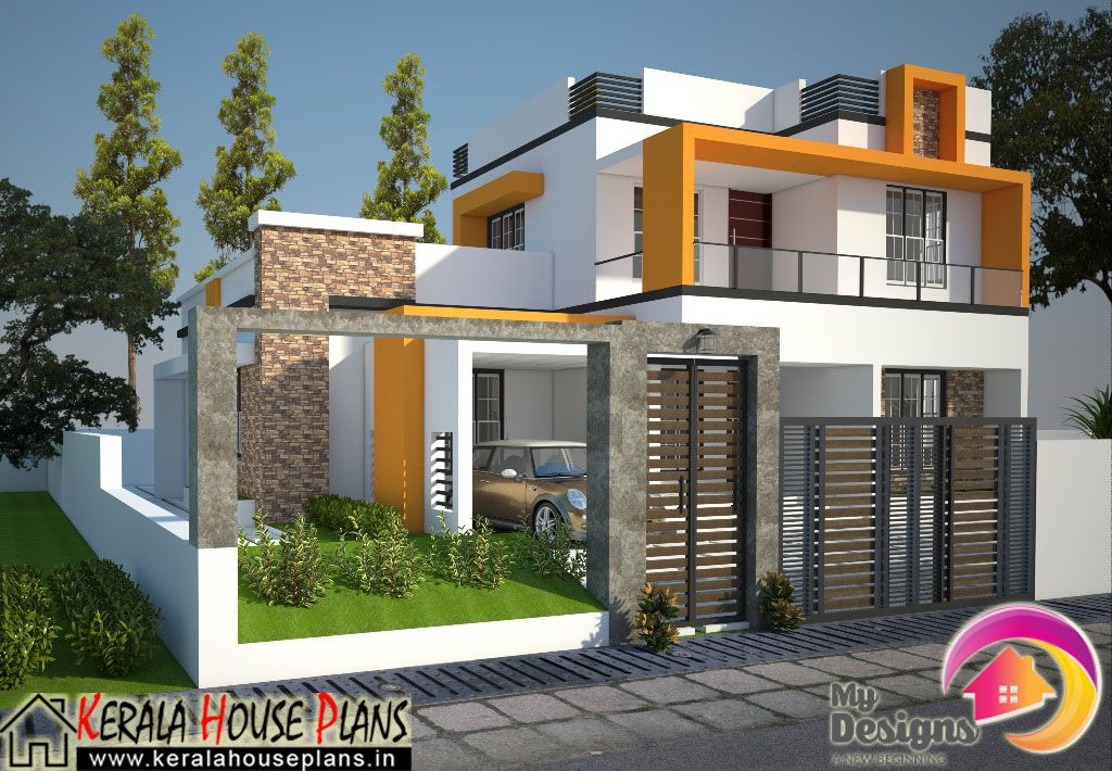 Superb Contemporary Style Home Part - 6: A Contemporary Style Home Design Of 1830 Sq Ft, Which Can Be Finished In  Less Than 32 Lakhs.