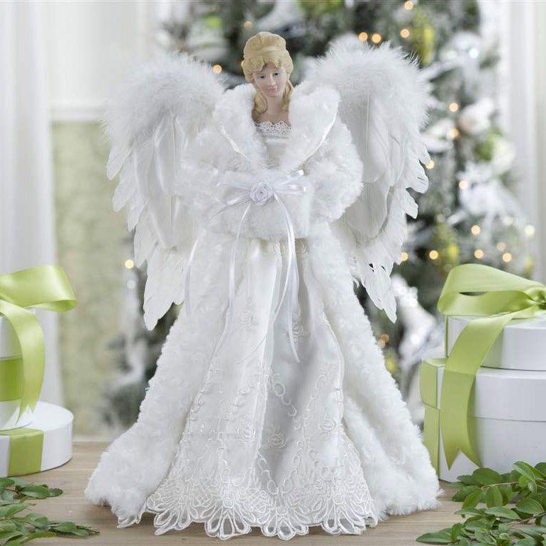 Christmas Tree Toppers Tree Toppers Christmas Tree And Angel - Christmas Angel Tree Topper Lighted