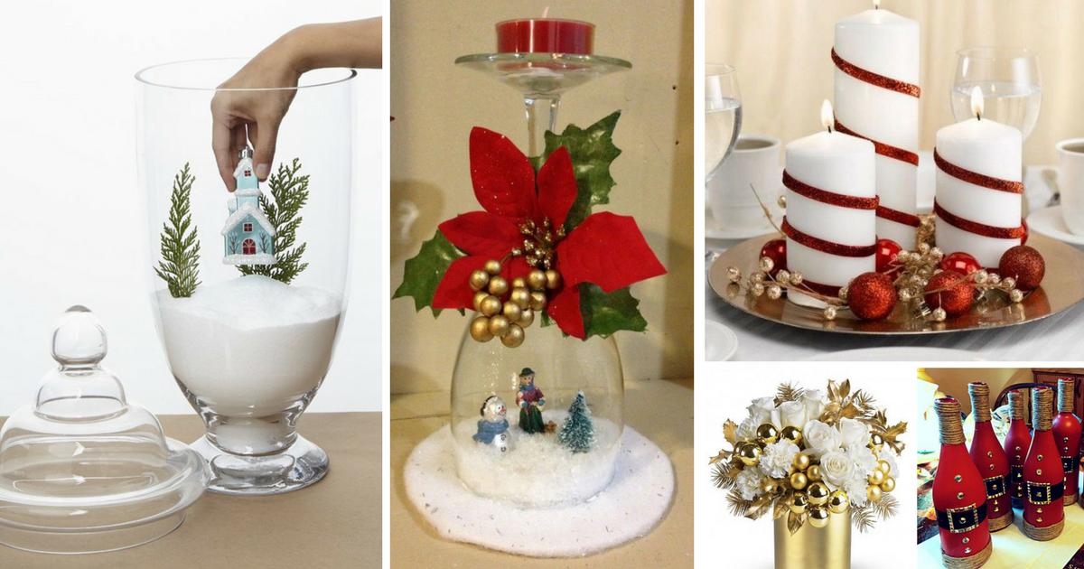 Decora tu mesa navide a sin gastar m s decoraciones - Navidad decoracion manualidades ...
