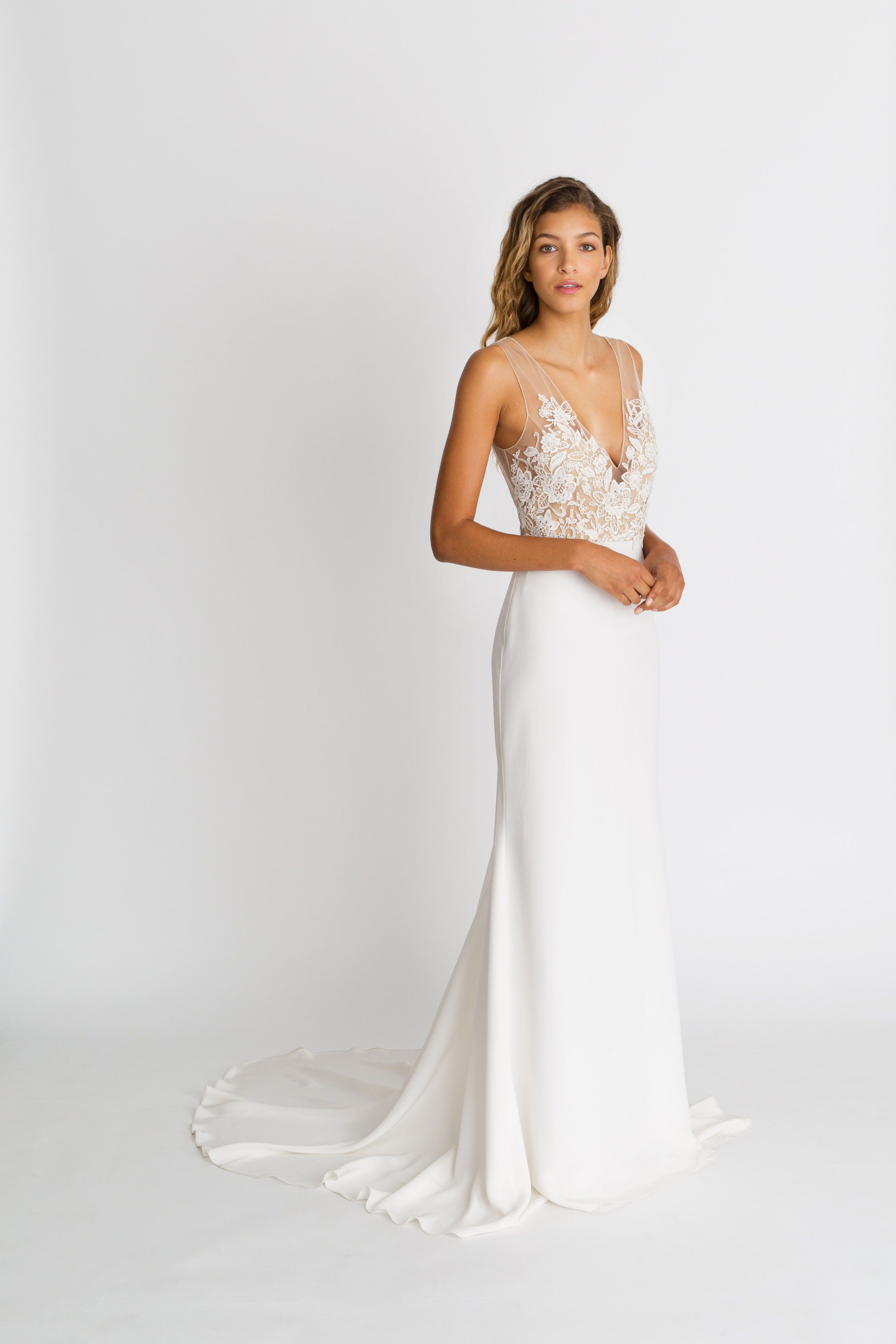 Lila By Alexandra Grecco Classics Collection The Lila Gown Is The Perfect Com Untraditional Wedding Dress Elegant Wedding Dress Dresses For Broad Shoulders