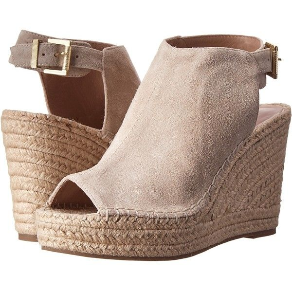 e193463363c8 Kenneth Cole New York Olivia (Cream Super Soft Suede) Women s Wedge... ( 130)  ❤ liked on Polyvore featuring shoes