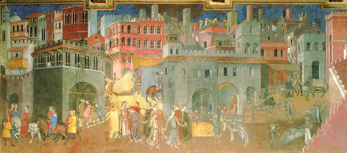 Sala Dei Nove Siena.Ambrogio Lorenzetti Gli Effetti Del Buono Governo In Citta