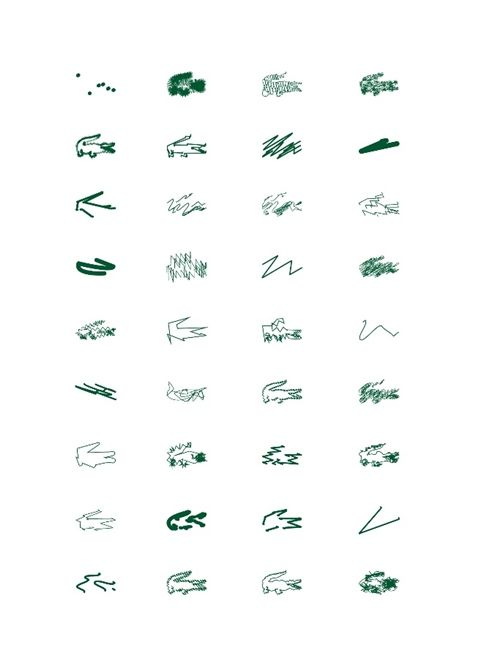 Peter Saville's Lacoste logo experiments