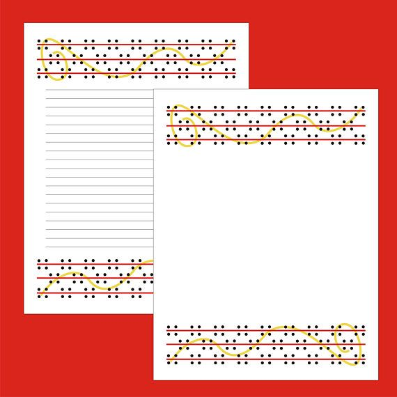 Digital Stationary Printable Stationary   Stationary Template - print lined writing paper