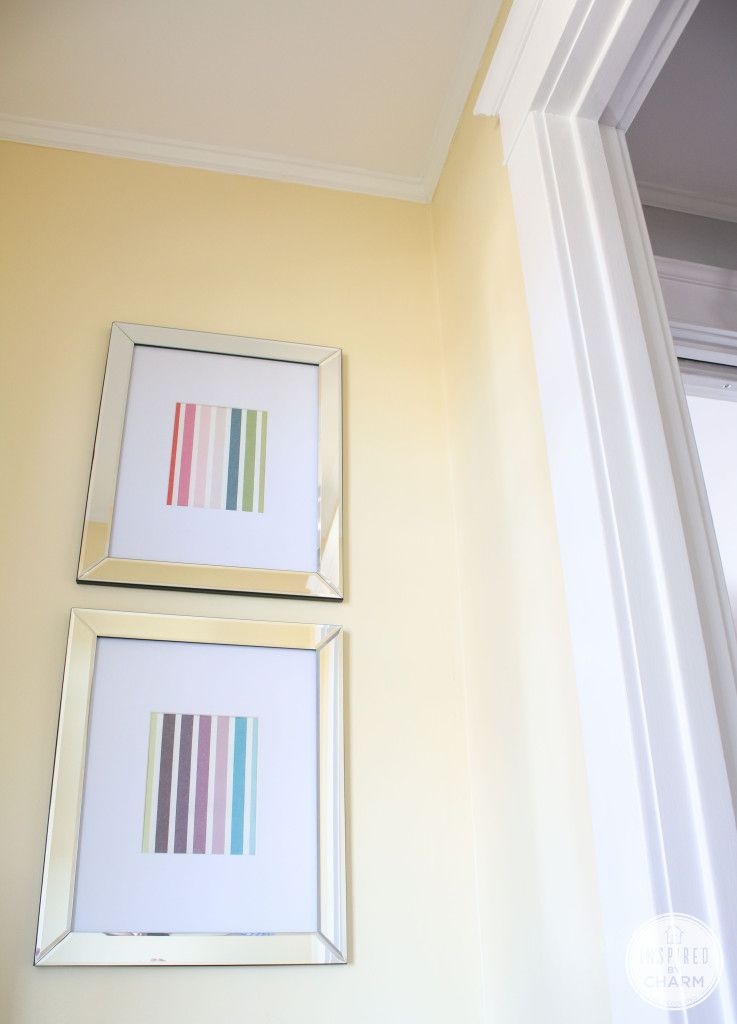 color in the entryway inspired by charm banana cream