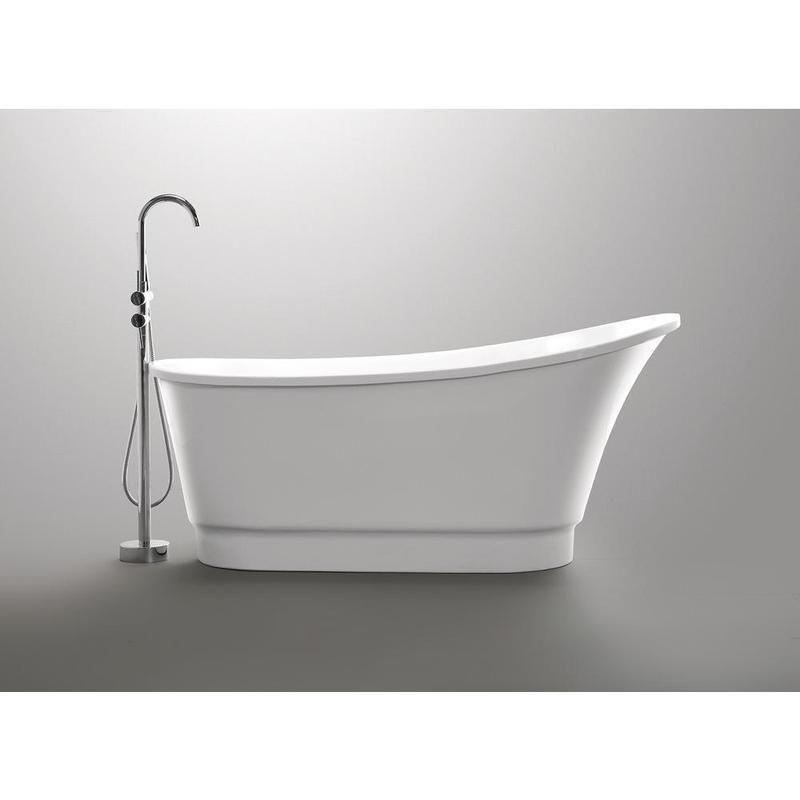 Anzzi Prima Series White Freestanding Bathtub Ft Az095 Free