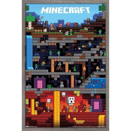 Minecraft - Worldly Poster Size: 22.375 inch x 34
