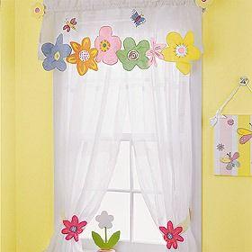 Cortinas infantiles con apliques romanas velos sceen - Apliques para cortinas ...