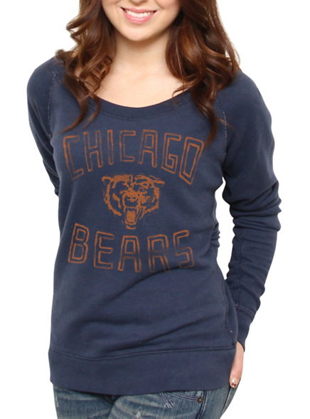 NFL Chicago Bears Vintage Off the Shoulder Fleece - Women s Collections -  NFL - All - Junk Food Clothing 5f5536f8d