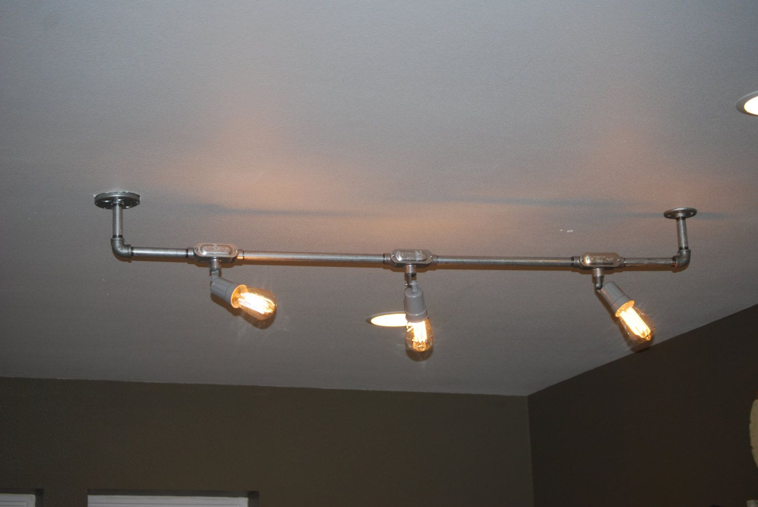 Hand Built Industrial Track Light By Recycledsavvy On Etsy