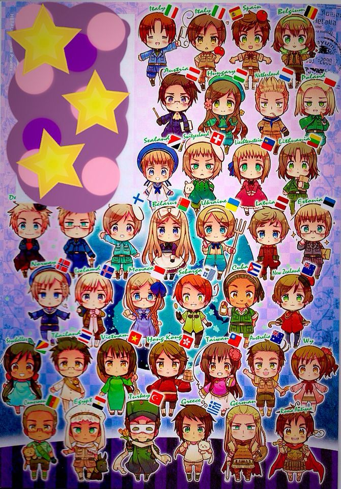 Hetalia chibis why did they cover the top left corner?