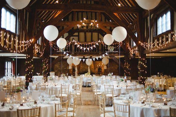 Rustic Stylish White Wild Flower Barn Wedding At Great Fosters With A Sassi Holford Dress