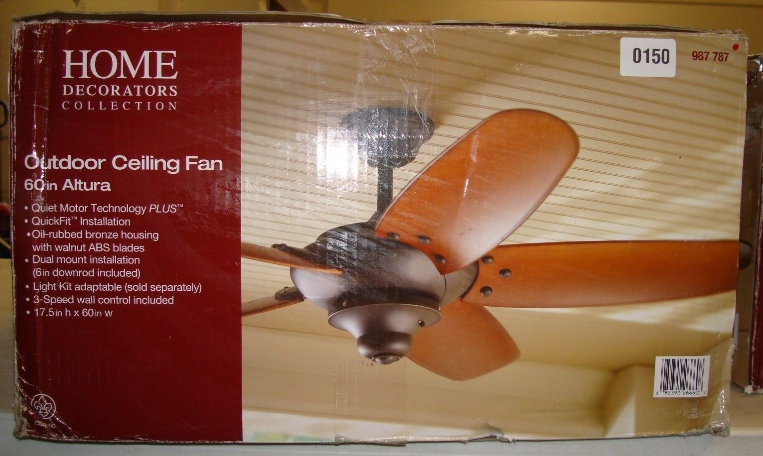 0150 Home Decorators Collection 60in Altura 987 787 Home Decorators Collection Bronze House Outdoor Ceiling Fans