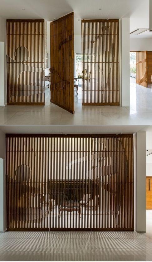 Conception de séparation de pièce, maison autour d'une cour. Vide chargé - https://pickndecor.com/interieur #hausdesign