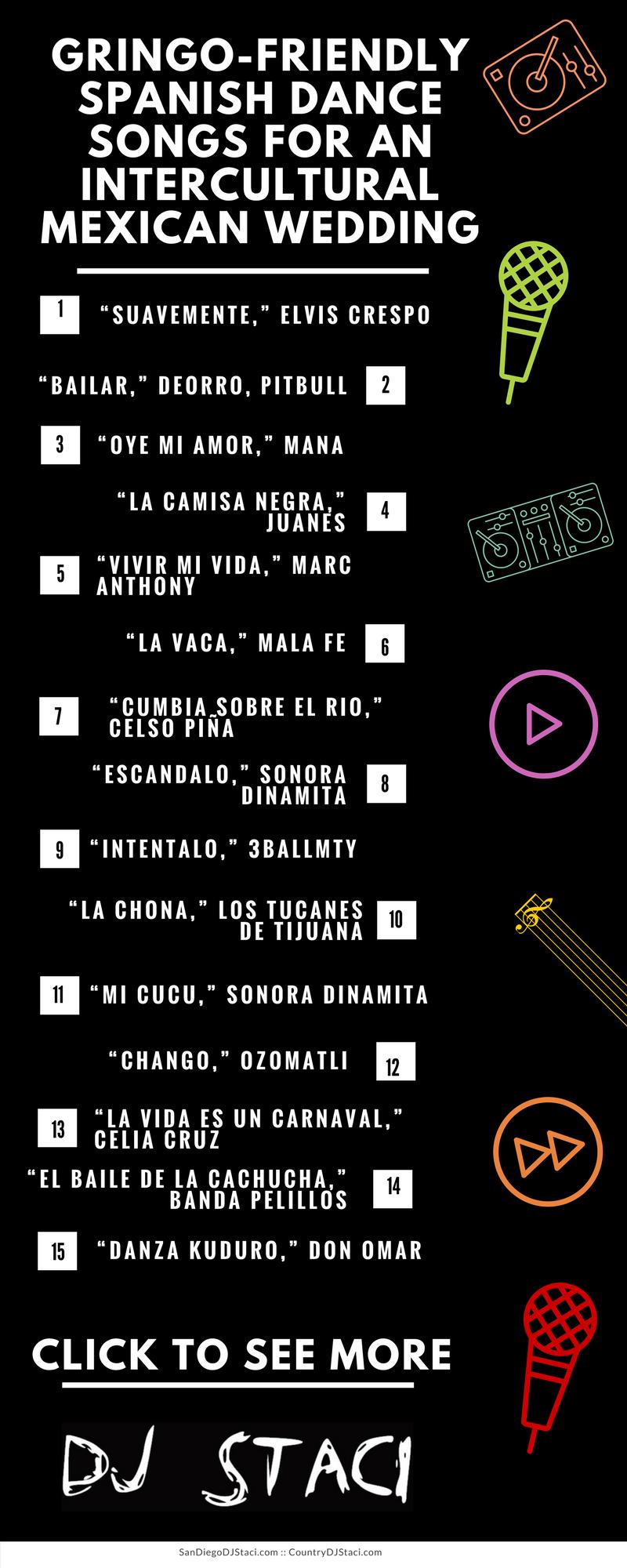 Gringo Friendly Spanish Dance Songs For Intercultural Mexican Wedding