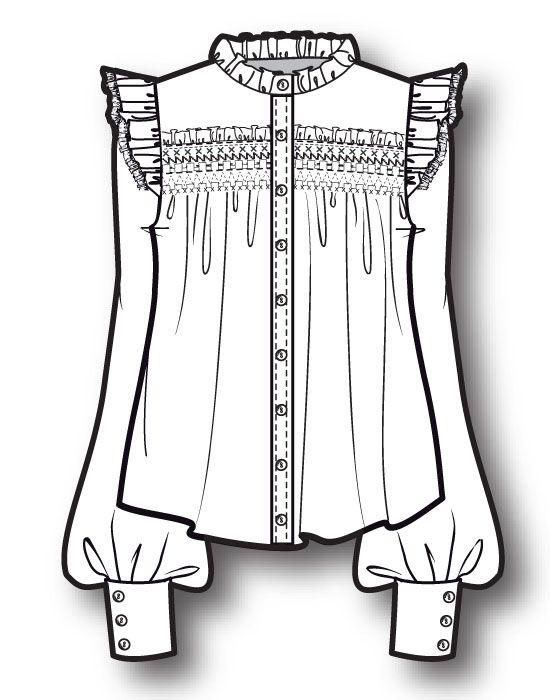 ladies shirt www.sewingavenue.com   Fashion Flats ...