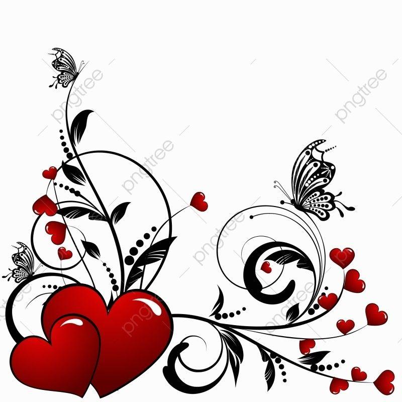 Fondo Abstracto Floral Del Corazon De San Valentin Con Mariposa Floral Modelo Mariposa Png Y Vector Para Descargar Gratis Pngtree Valentines Day Drawing Abstract Backgrounds Saint Valentine