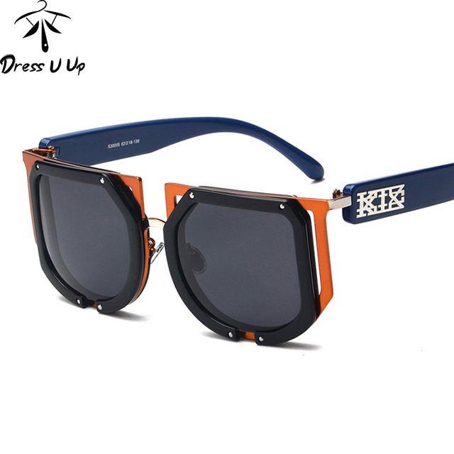 Discounts $16.36, Buy DRESSUUP Vintage Oversized Sunglasses Women Men Brand Designer Square Sun Glasses UV400 Lunettes De Soleil Femme Gafas