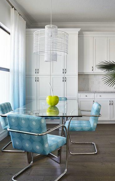 BlueTiffully Blue Dining Kitchen Coastal Contemporary Eclectic  MidCenturyModern Modern By Lisa Michael Interiors