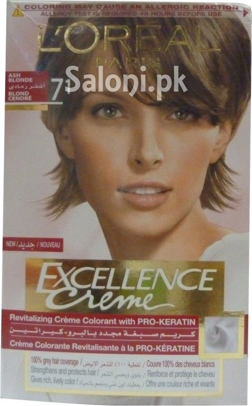 l 39 oreal paris new excellence creme 71 ash blonde saloni health hair color pinterest. Black Bedroom Furniture Sets. Home Design Ideas