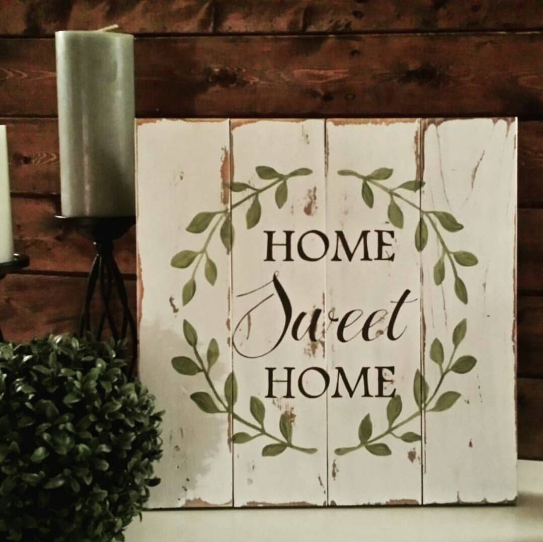Reclaimed wood sign - Home Sweet Home - Pallet wood sign - Pallet art - Reclaimed wood wall art - Reclaimed wood art - Rustic wood sign by TinHatDesigns on Etsy https://www.etsy.com/listing/219661145/reclaimed-wood-sign-home-sweet-home
