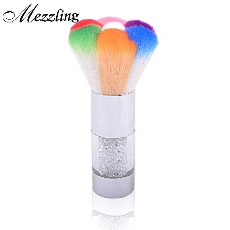 1 pz Nuovo di Alta Qualità Nail Art Depolveratore Pennelli Strass Trucco Foundation Brush Cleaner Gel UV Nail Powder Strumenti