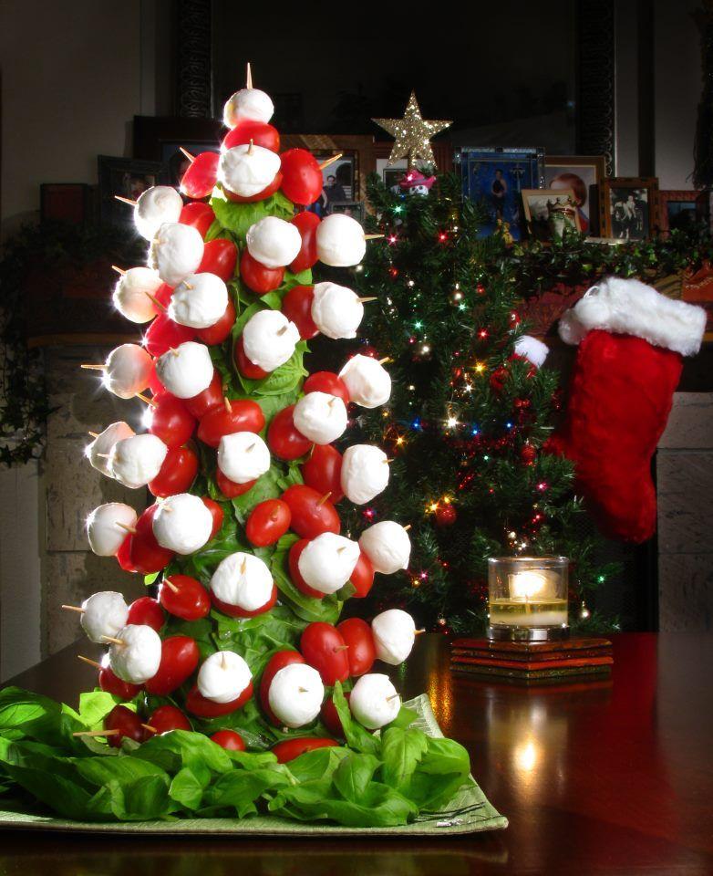 Christmas appetizer pint grape tomatoes pint mini - Christmas tree shaped appetizers ...