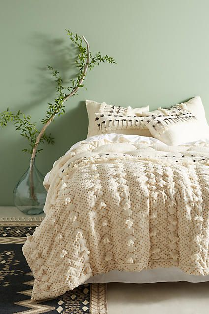 Anthropologie Tufted Pointilliste Quilt Home Decor Bedding And