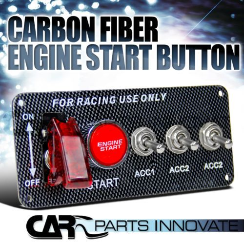 Racing Car 12v Ignition Switch Panel Led Engine Start Push Button